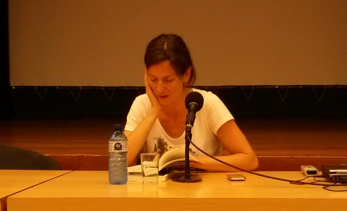 Laia Fabregas, reads her book Gele dagen, October 22nd, 2013