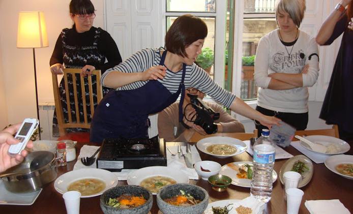 Clase de cocina coreana
