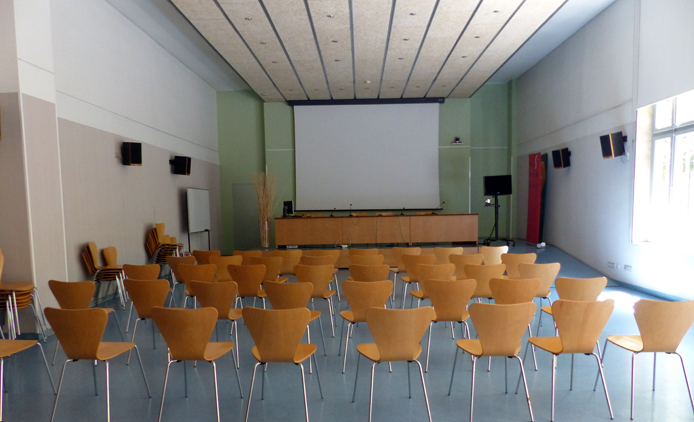 lecture hall with chairs