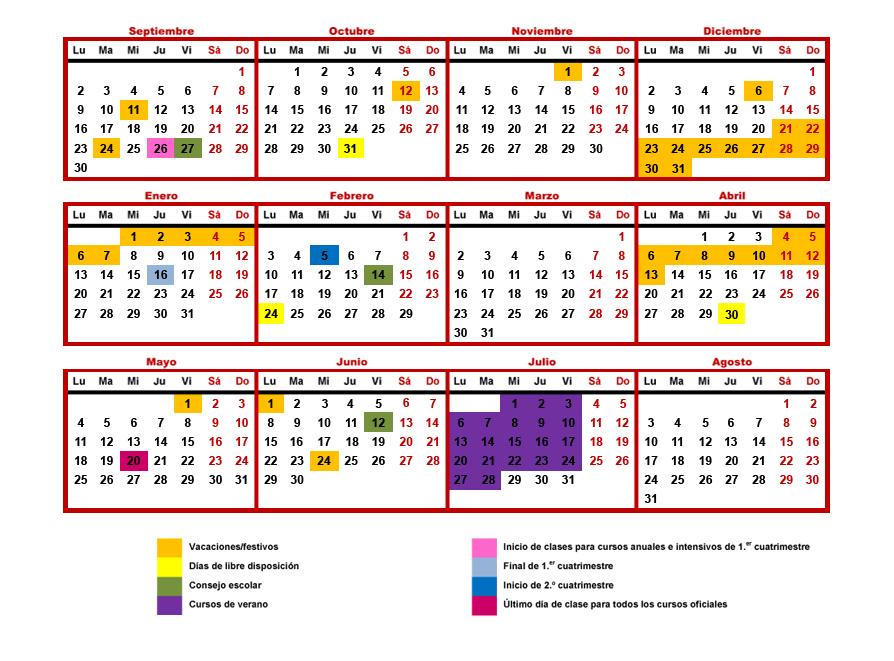 Calendario Escolar Barcelona.Calendario Escolar 2019 20 Eoibd